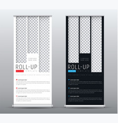design a standard roll up banner for vector image