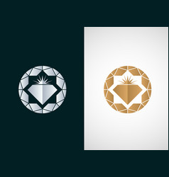 diamond logo icon design vector image
