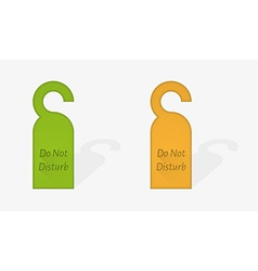 Door hanger vector