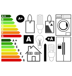 Energy efficiency elements vector