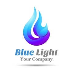 Flame Blue logo template business icon vector image