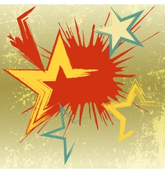 Grunge background of explosion star vector image vector image