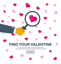 happy valentines day find your valentine vector image