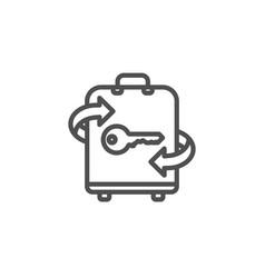 luggage room line icon baggage locker sign vector image
