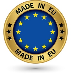 Made in Europe gold label vector image