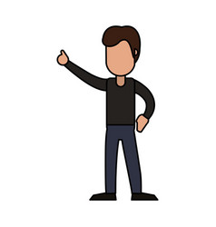 male cheerful dancing image vector image