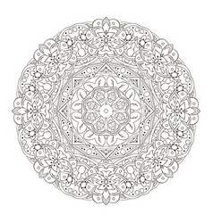 mandala oriental pattern traditional round vector image