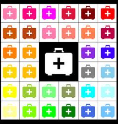 Medical first aid box sign felt-pen 33 vector