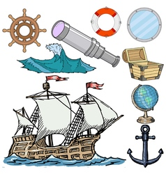 nautical related objects vector image vector image