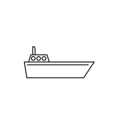 navigate boat icon vector image