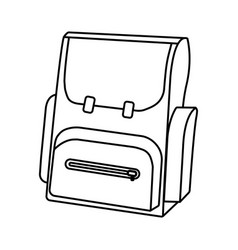 Outline schoolbag icon schools supplies isolated vector
