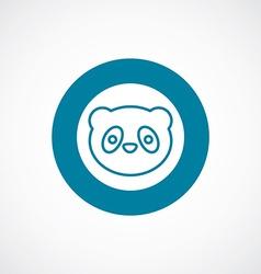 panda icon bold blue circle border vector image