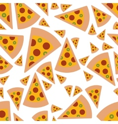 pizza seamless pattern vector image