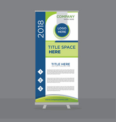 Rollup standee design template vector