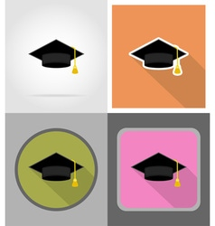 School education flat icons 03 vector