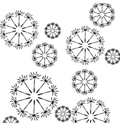 Seamless floral pattern of dandelion seeds vector