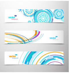 Set of abstract colorful headers vector