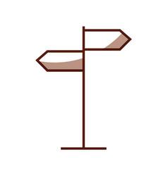Shadow traffic sign cartoon vector