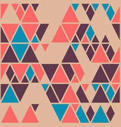 Simple geometric background with triangles vector