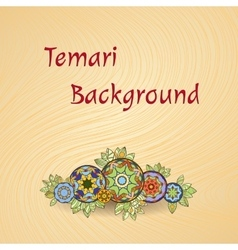 Temari background vector