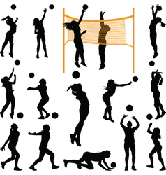 volleyball woman player vector image vector image