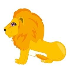 Wildlife lion on white vector