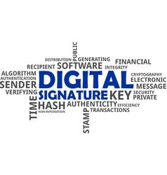Word cloud - digital signature vector