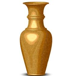 golden shiny vase vector image