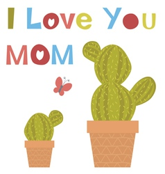 Love you mom vector