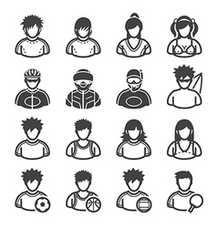 Sport and activity people icons vector