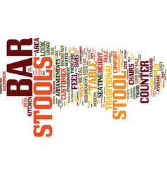 Bar stools a buyers guide text background word vector