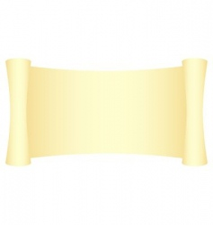 yellow scroll vector image