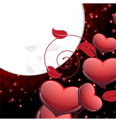 Valentines day sparkling background vector