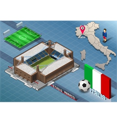 Isometric Stadium Marassi Genova Italy vector image