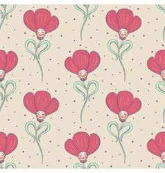 Beige spring or summer seamless pattern vector