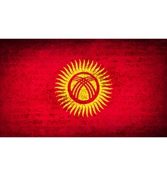 Flags kyrgyzstan with dirty paper texture vector