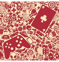 Background of the gaming icons vector