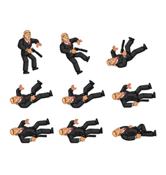 Body guard dying animation vector
