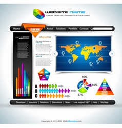Website infographics vector