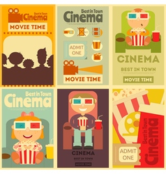 cinema posters vector image