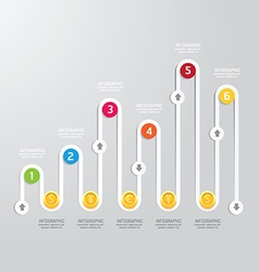 Business infographics step design options banner vector