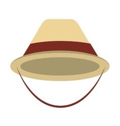 Hat cap tourist icon vector