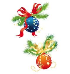christmas balls 2 vector image