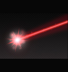 Abstract red laser beam magic neon light lines vector
