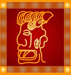 american indians maya and aztec symbolic vector image vector image