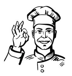 Black happy chef vector