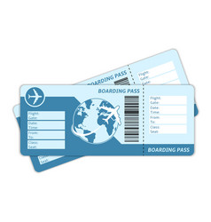 Blank plane tickets vector image