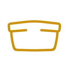 bread line style bakery icon bakeshop sign vector image