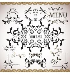 calligraphic vintage design vector image