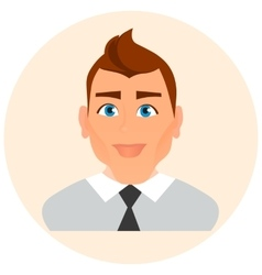 Faces Avatar in circle Male Portrait Business Man vector image